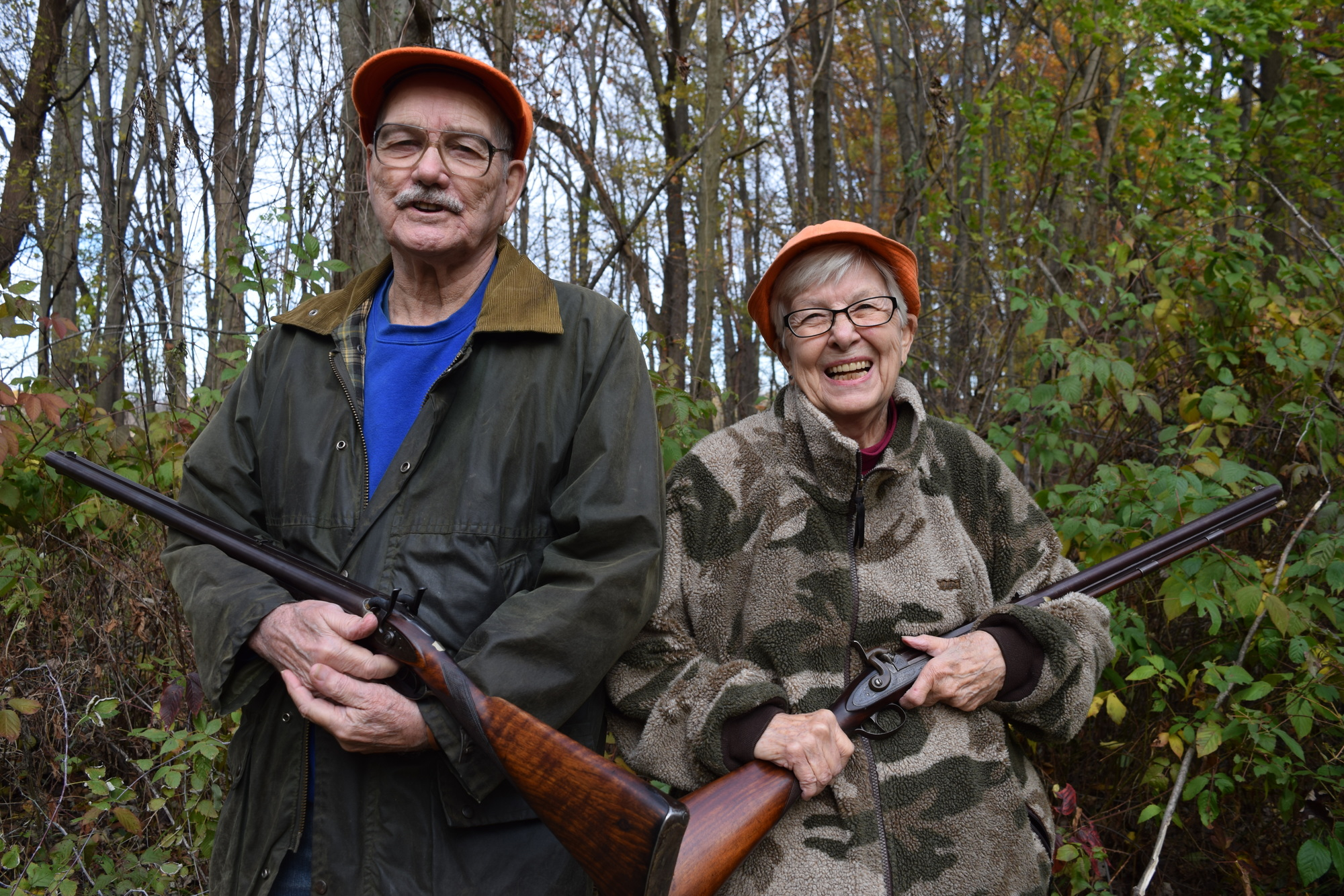 Joe Ehlinger, who lives near Addison, hunts with his wife, Marty, who is 83.
