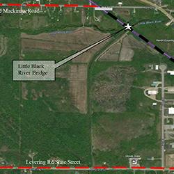 Little Black River bridge closure map