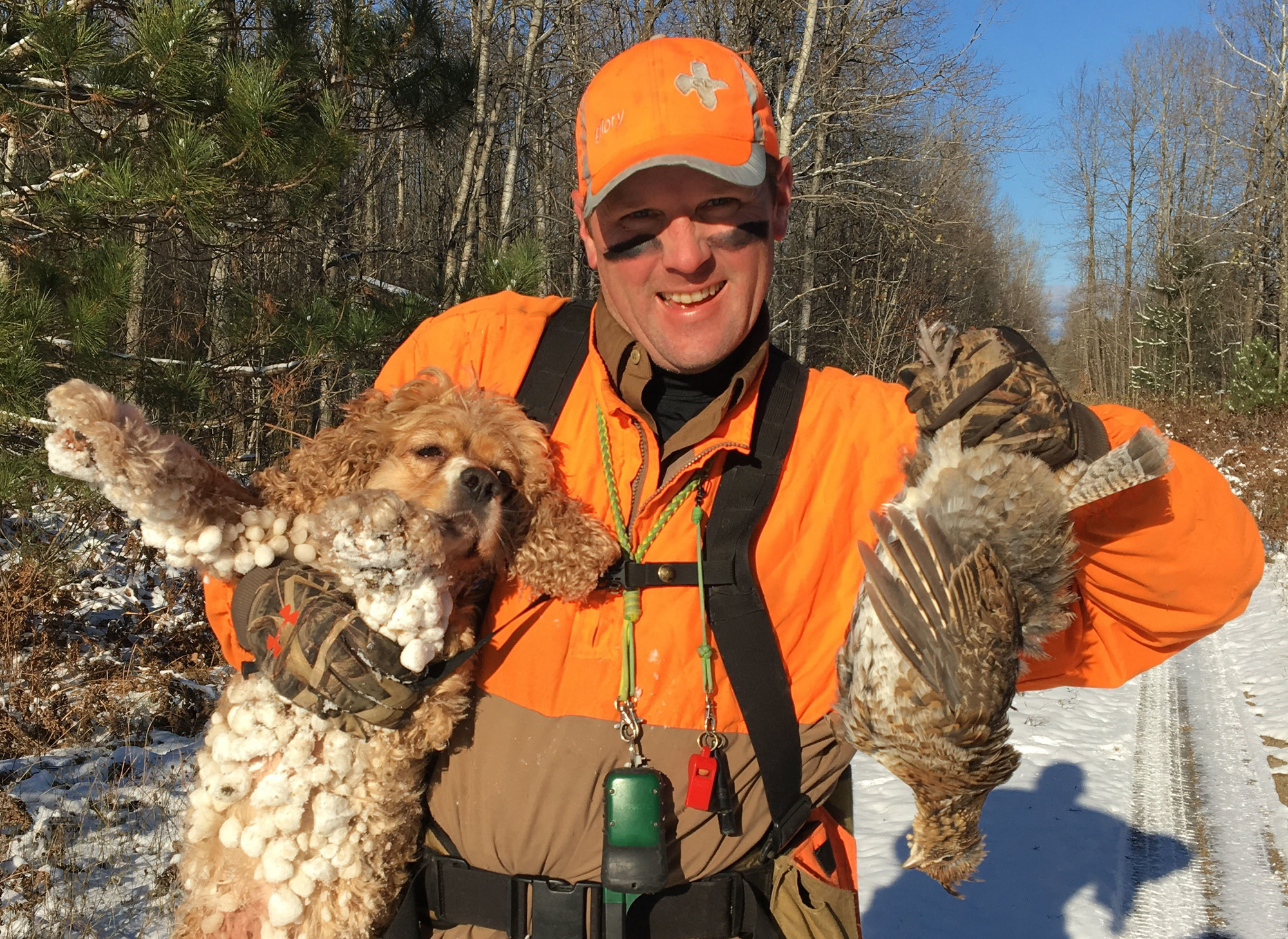 Fritz Heller, an avid northwest Michigan grouse hunter, finds success in the late season.