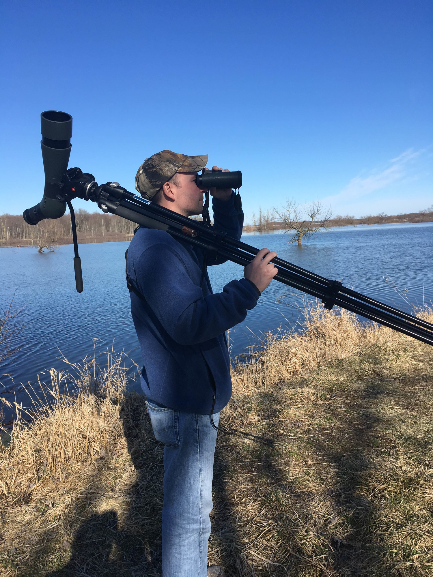 Macomb Audubon Member Jeremy Joswick enjoys getting outdoors to view and count birds in every season.