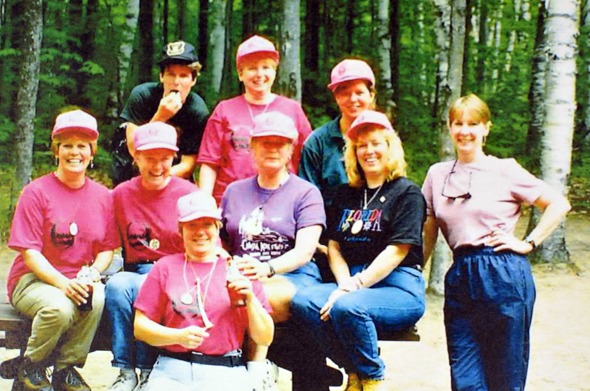 The first Becoming an Outdoors Woman committee at the Clear Lake Education Center in Schoolcraft County in 1998.