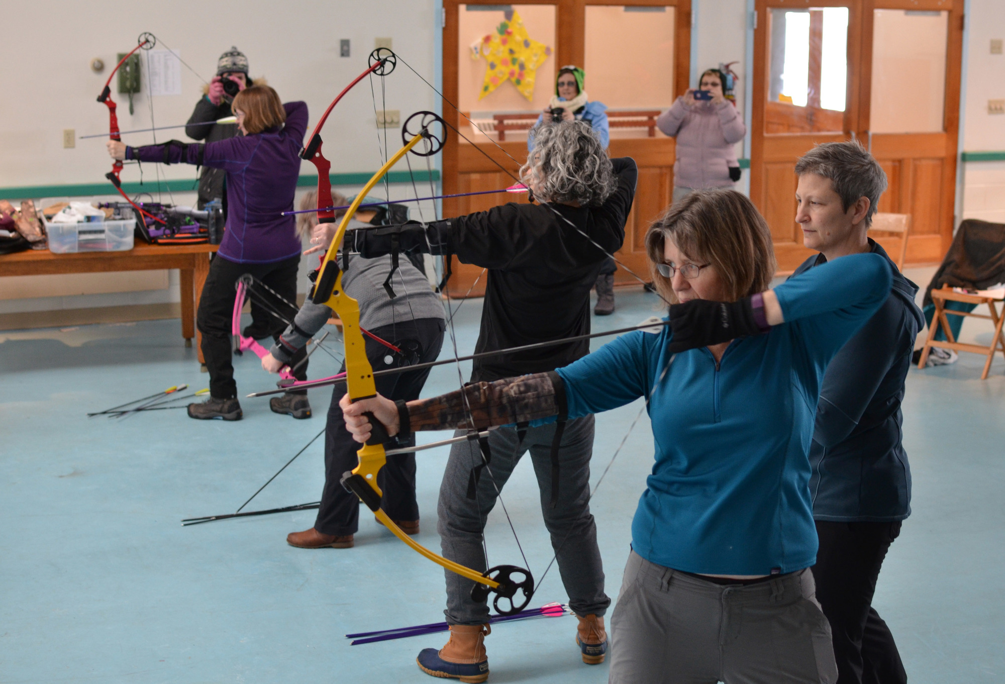 Archery is taught during summer and winter sessions.