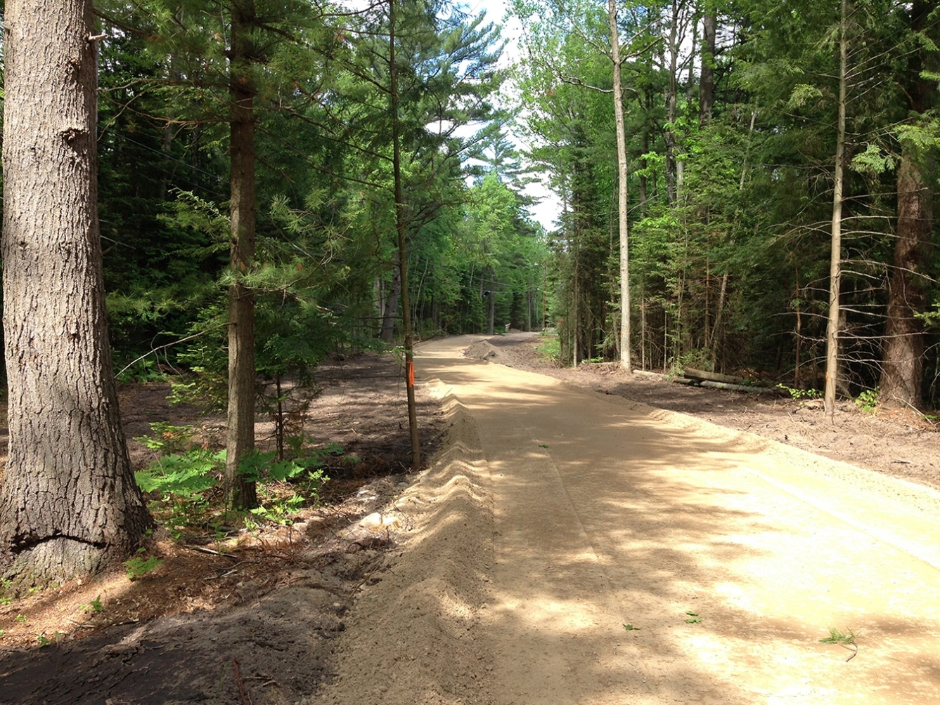 In 2017, a 2-mile segment of Michigan's Iron Belle Trail at North Higgins Lake was completed.