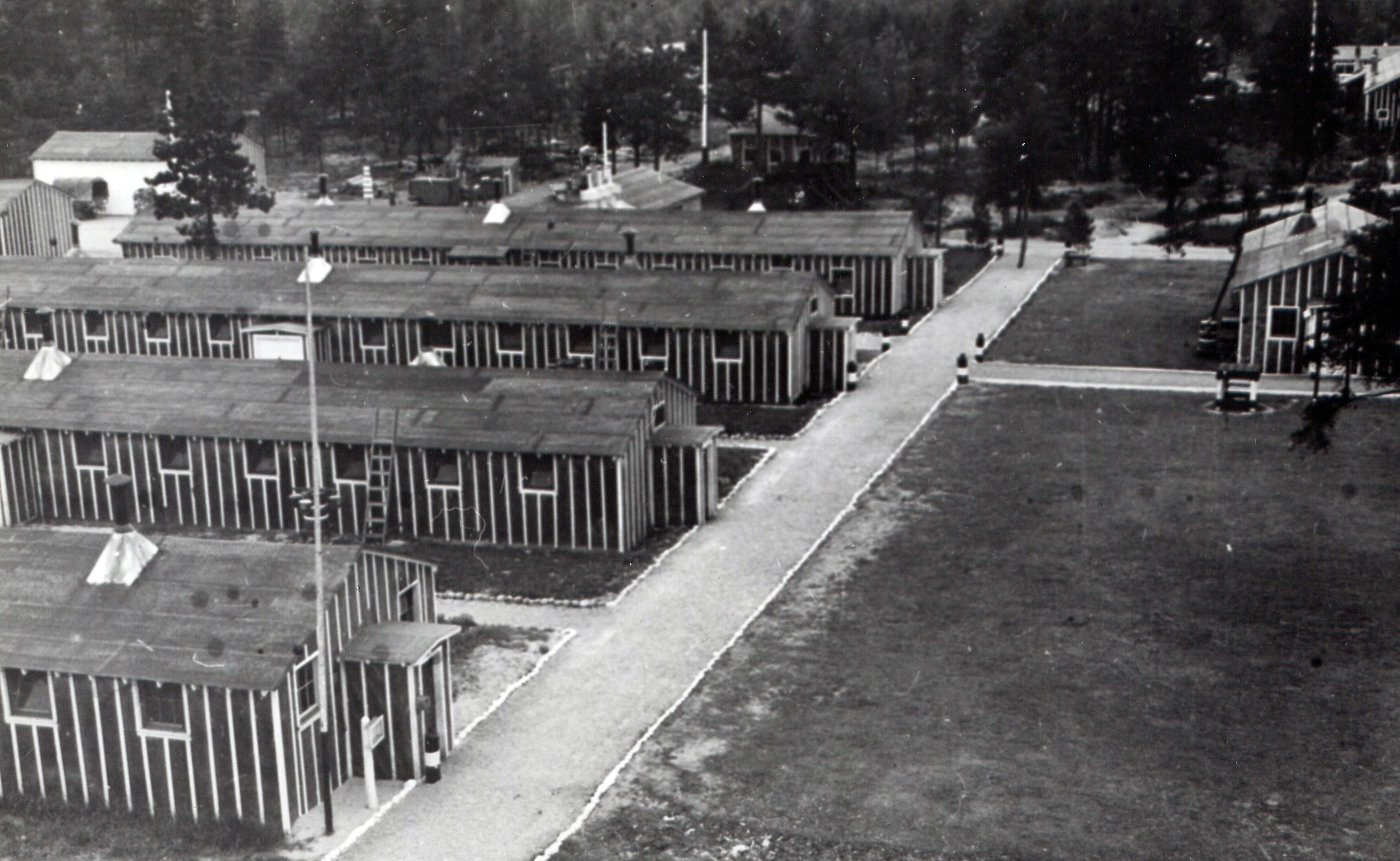 A view of Camp Raco in Chippewa County, the first Civilian Conservation Corps camp established in the Upper Peninsula.
