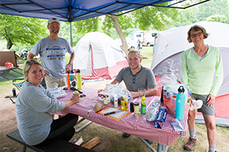 campers at Porcupine Mountains