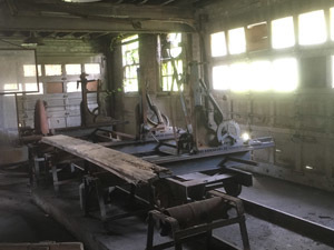 The Belle Isle sawmill has been powered by electricity since the 1940s but ran on steam prior to that.