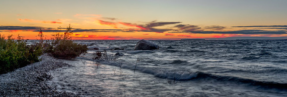 A beautiful sunset of Lake Michigan in Emmet County. (Michigan Department of Transportation photo)