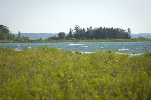 A view of Lake Michigan from Leelanau State Park in Leelanau County.