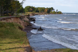 Erosion can be a problem along the Great Lakes as shown here at F.J. McLain State Park in Houghton County.