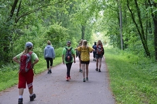 Scouts like these (in the 2017 event) are invited to join in this year's Iron Belle Challenge June 2, along any part of Michigan's showcase trail.