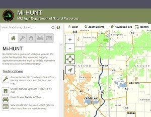 A screen capture shows the Mi-HUNT application.
