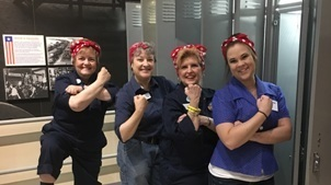 Volunteers dressed up as Rosie the Riveter, just some of the people you'll see at the Michigan Historical Museum May 12.