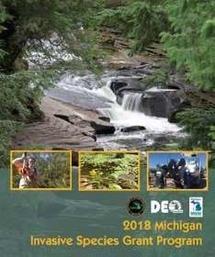 cover image of the 2018 Michigan Invasive Species Grant Program handbook