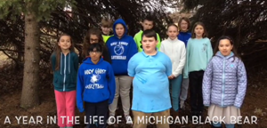 "Students from Holy Ghost Lutheran School in Monroe won first-place honors in the 2017-18 ""Year in the Life of a Michigan Black Bear"" program."