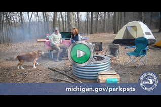 Check out a video of pets in Michigan state parks