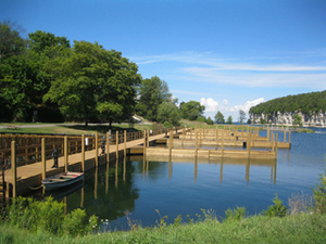 Fayette Historic State Park is home to the beautiful Snail Shell Harbor, with its recently renovated boating access site.
