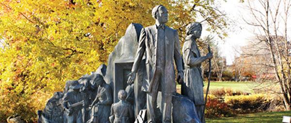Underground Railroad monument in Battle Creek