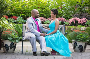 Theophilus Williams and his wife Dominique were wedded on Oct. 22, 2015 at Belle Isle Park in Detroit.