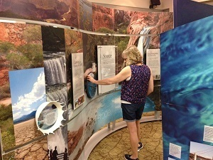A scene from the Smithsonian's Water/Ways exhibit, which will make stops in six Michigan communities.