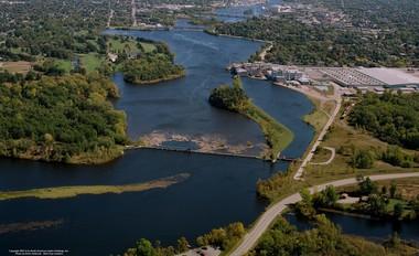 Aerial photo of lower Menominee River