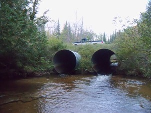 Two undersized culverts on Milligan Creek in the northern Lower Peninsula will be replaced this summer with a new 35-foot-wide plate arch
