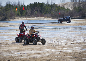 ORVs at Silver Lake sand dunes