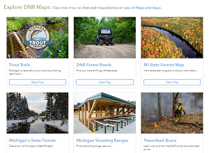 The DNR's Open Data Portal offers new, technology-assisted looks at Trout Trails, state forests, shooting ranges and more.