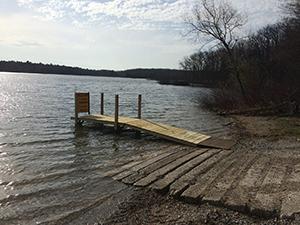 deteriorating Lake Dubonnet boating access site