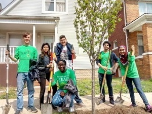 The Michigan DNR, DTE Energy Foundation and ReLeaf Michigan partner to offer grants that make tree-planting efforts like this, in Hamtramck, possible.