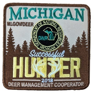 The winning 2018 Deer Management Cooperator patch, submitted by Matt MacDonald of Toronto, Ontario.