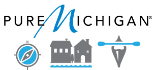 Pure Michigan Trail and Trail Town logo and graphic