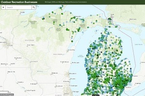 A new DNR mapping tool will help showcase outdoor recreation businesses in Michigan