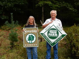 The Bakers enrolled their forest in the Forest Stewardship Program.