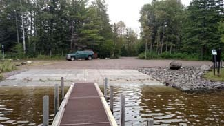 The Lily Pond Boating Access Site after repairs were made.