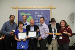 Some of the award winners from the 2018 Michigan Alliance for Environmental and Outdoor Recreation annual conference in Port Huron, Michigan