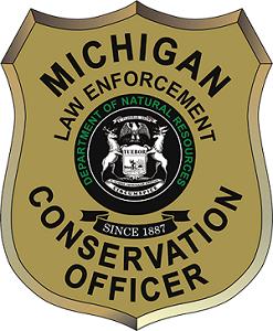 Michigan DNR Law Enforcement Division door shield graphic