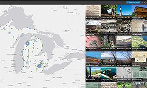 Michigan state park story map screenshot