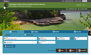 new look for state park and harbor reservation website