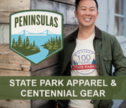 Peninsulas LLC state park apparel and centennial gear