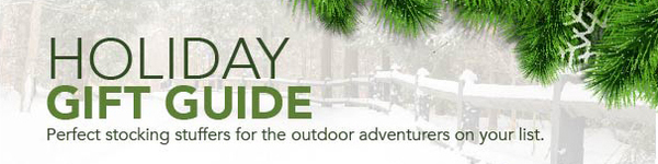 Holiday gift guide. Perfect stocking stuffers for the outdoor adventurers on your list.