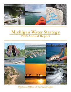 Cover image - Michigan Water Strategy Annual Report, 2018