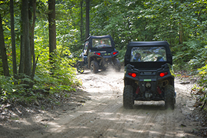 Almost all of the state forest roads in the Upper Peninsula are open to ORV traffic.