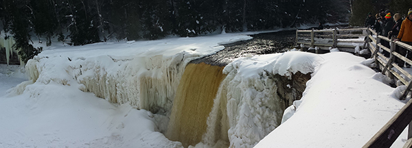 The Upper Tahquamenon Falls in the eastern Upper Peninsula are a beautiful destination.