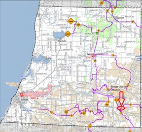 Snowmobile Trail No. 6 closure map