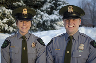 Michigan Department of Natural Resources Conservation Officers Jenni Hanson and Zach Painter patrol Gogebic County.