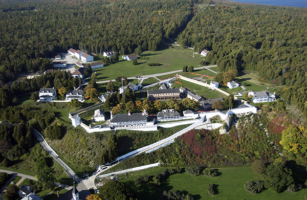Fort Mackinac is shown at Mackinac Island State Park.