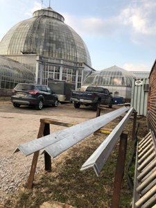 new angles in front of conservatory dome