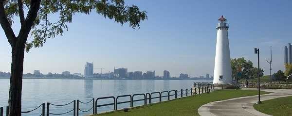 a view of Milliken State Park and Harbor and surrounding area