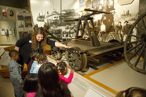 A Michigan History Museum program teaches preschool children about Michigan history.