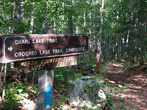 The National North Country Scenic Trail runs for more than 7 miles at Craig Lake State Park.